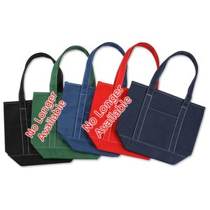 "Solid Cotton Yacht Tote - Colors - 12"" x 14-1/2"""