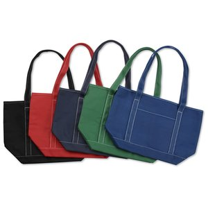 Solid Cotton Yacht Tote - Colors - 13
