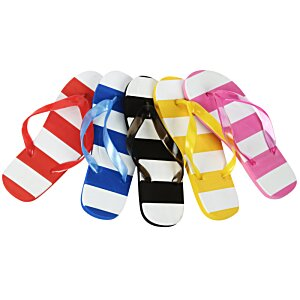 Striped Flip Flops Image 1 of 3