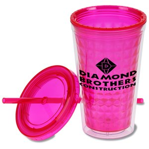 Diamond Tumbler with Straw - 16 oz. Image 1 of 2