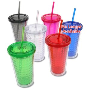 Diamond Tumbler with Straw - 16 oz. Image 2 of 2