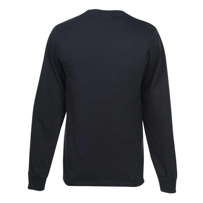 Soft Spun Cotton Long Sleeve Pocket T Shirt