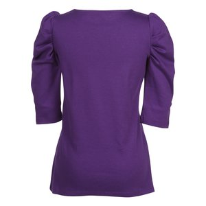 Naomi 3/4 Sleeve Interlock Tunic Image 1 of 1
