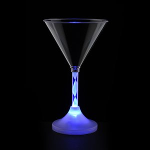 Martini Glass with Light-Up Spiral Stem - 6 oz. Image 2 of 7