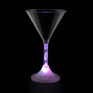 Martini Glass with Light-Up Spiral Stem - 6 oz. Image 3 of 7