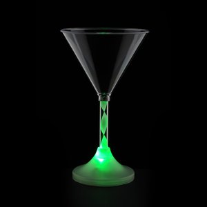 Martini Glass with Light-Up Spiral Stem - 6 oz. Image 7 of 7