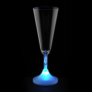 Champagne Glass with Light-Up Spiral Stem - 7 oz. Image 2 of 5