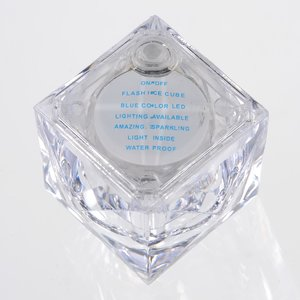 Crystal Light Up Ice Cube - Blue