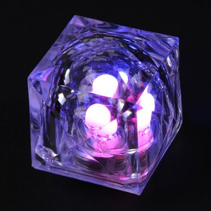 Crystal Light Up Ice Cube - Multicolor Image 3 of 7