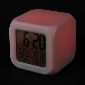 Color Changing LED Alarm Clock Image 4 of 7