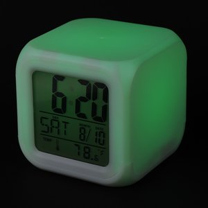 Color Changing LED Alarm Clock Image 5 of 7