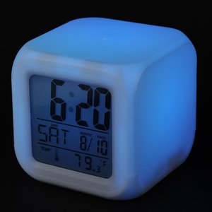 Color Changing LED Alarm Clock Image 6 of 7