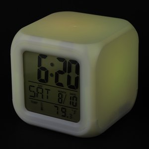 Color Changing LED Alarm Clock Image 7 of 7