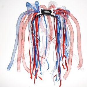 LED Noodle Headband - Red, White & Blue Image 1 of 2