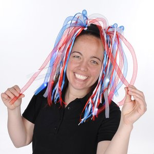 LED Noodle Headband - Red, White & Blue Image 2 of 2