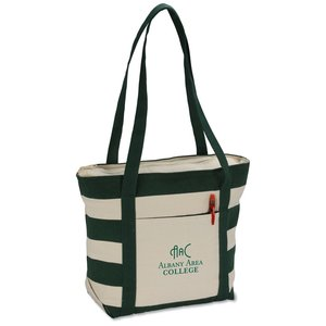 Striped Accent 10 oz. Boat Tote - 13
