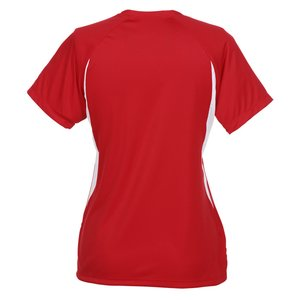 A4 Cooling Performance V-Neck Colorblock Tee-Ladies' -Screen Image 1 of 1