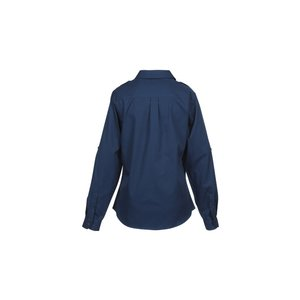 Two-Pocket Stain-Resistant Roll Sleeve Shirt - Ladies' Image 2 of 2