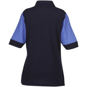 Silk Touch Colorblock Pique Polo - Ladies' Image 1 of 1