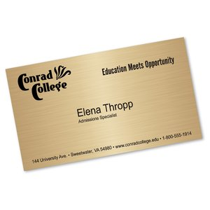 Metallic Business Card Magnet Image 1 of 1