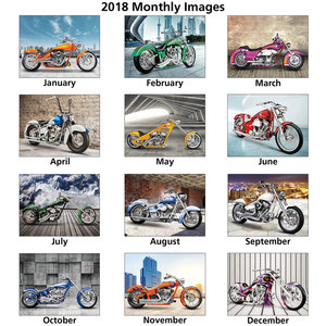 Custom Bikes Calendar Image 1 of 1