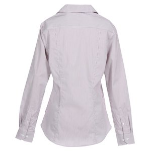 Fine Stripe Stretch Poplin Shirt - Ladies'