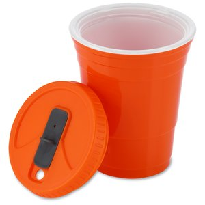 Game Day Cup w/Lid - Opaque - 16 oz. Image 2 of 2
