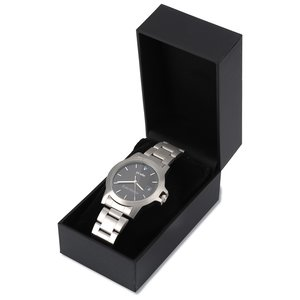Hamburg Brushed Steel Watch - Men's Image 1 of 1