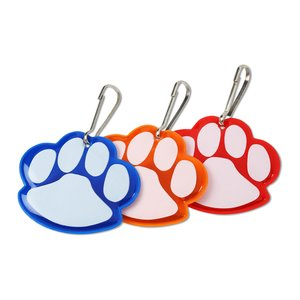 Reflective Pet Collar Tag - Paw Print Image 1 of 1