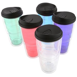 Full Color Swirl Insulated Travel Tumbler - 24 oz. Image 2 of 2