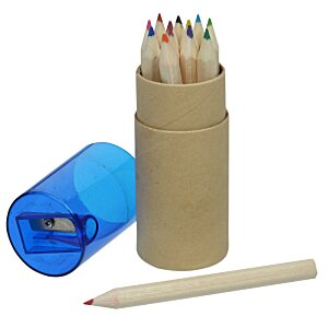 Colored Pencil & Sharpener Set