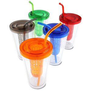 Flavorade Infuser Tumbler with Straw - 16 oz. Image 1 of 2