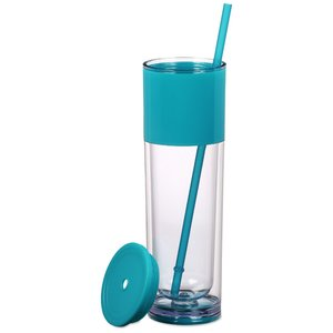 Ice Cool Tumbler with Straw Image 1 of 2