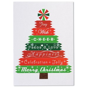 Designer Tree Christmas Greeting Card Image 2 of 3