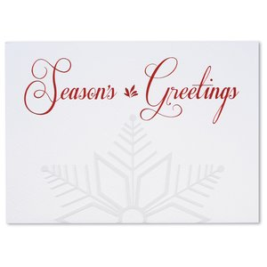 Embossed Snowflake Greeting Card Image 2 of 3