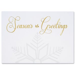 Embossed Snowflake Greeting Card Image 3 of 3