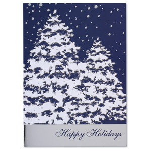 Snow Covered Trees Greeting Card Image 2 of 3