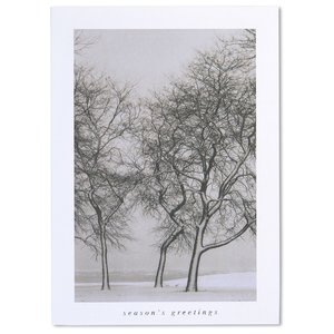 Snow Blown Trees Greeting Card Image 2 of 3
