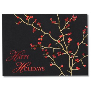 Red Berries Holiday Greeting Card Image 1 of 3