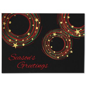 Festive Circles Greeting Card Image 3 of 4