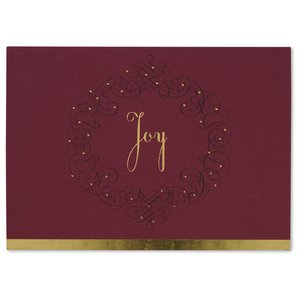 Joy Wreath Greeting Card Image 3 of 3