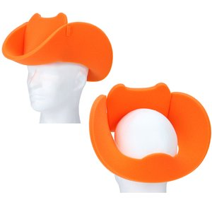 Cowboy Hat Pop Up Foam Visor Image 1 of 2