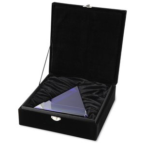 Blue Triangle Crystal Award Image 2 of 2