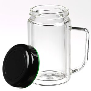 Double Wall Glass Mug - 10 oz. - Closeout Image 2 of 2