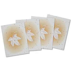 Maple Leaf Seeded Greeting Card Set Image 3 of 4