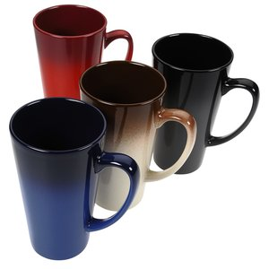 Ombre Tall Latte Ceramic Mug - 14 oz.