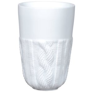 Cable Knit Ceramic Tumbler - 13 oz.