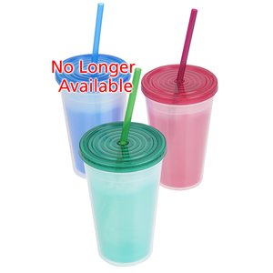 Color Changing Tumbler with Straw - 16 oz. Image 1 of 3
