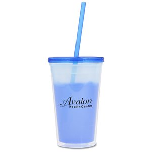 Color Changing Tumbler with Straw - 16 oz. Image 2 of 3