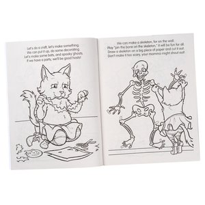 Coloring Book w/Mask - Spooky Fun Halloween Image 1 of 7